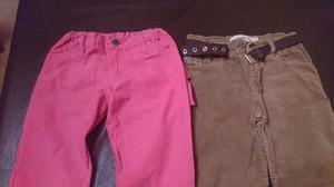 Lote de pantalones de nena talle 8
