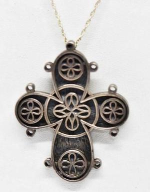 Antigua cruz plata 925 maciza 14.55 grs