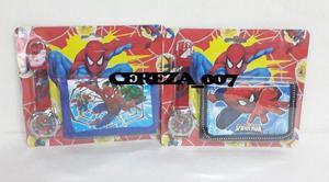 Billetera reloj de spiderman hombre araña