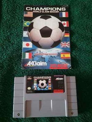 Champions world class soccer snes con manual hay mas juegos!