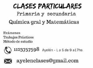 Clases para primaria y secundaria - caballito/ paternal