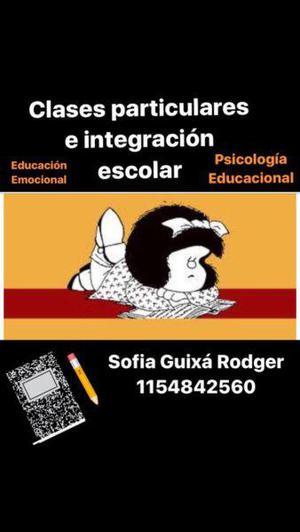Clases particulares-integración escolar