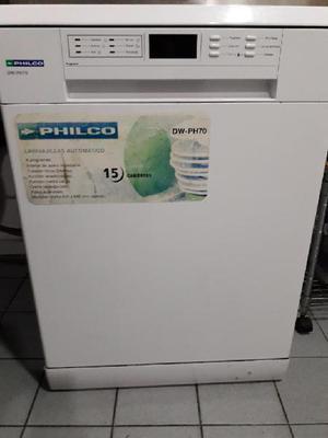 Lavavajillas philco dwph70 15 cubiertos blanco excelente