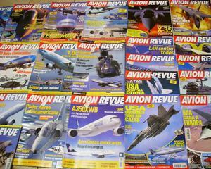 Lote revistas aviación: avion revue impecables