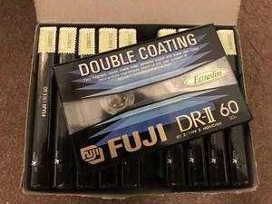 Lote x 10 cassette cromo fuji dr ii 60 nuevos