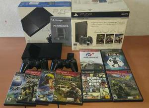 Ps2 original en caja impecable con juegos