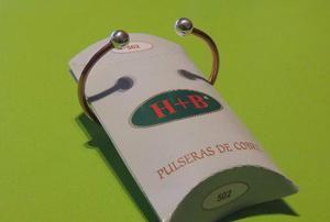 Pulsera de cobre h+b -bolitas(contra el reuma y la artrosis)