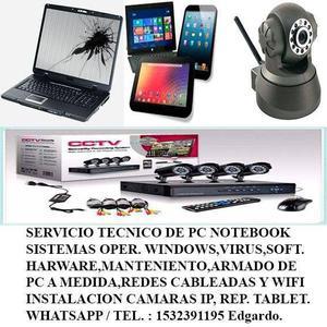 Service pc notebook y tablet a domicilio!!!