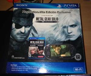 Sony Ps Vita En Caja. Edición Metal Gear. Memoria 8gb
