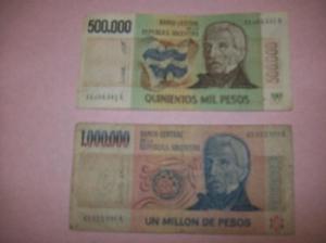 Lotes de 8 billetes argentinos