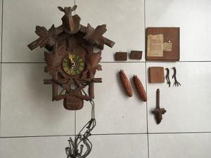 Reloj cucu antiguo - 2 pesas - 30x40x16 - nunca restaurado