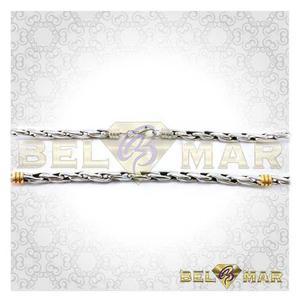 75e093221057 10 cadena x mayor soga 4mm de plata 925 y oro 18 kts