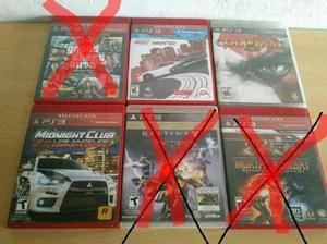 Juegos usados de playstation 3