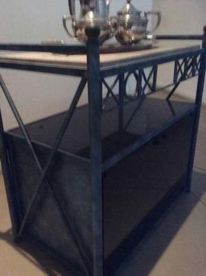 Mesa para tv o mesita bar con marmol