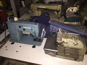Maquinas de coser industriales singer (lote completo con
