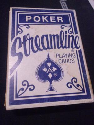 Naipes poker streamline
