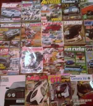 Lote revistas importadas y nacionales de autos motos