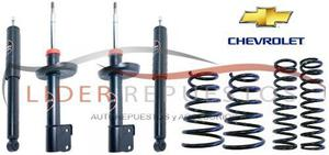 Amortiguador kit x4 chevrolet corsa classic + espirales x4
