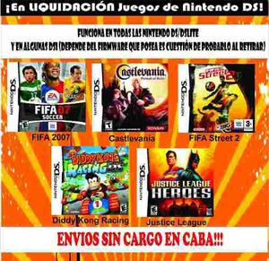 Juego ds fifa street 2 07 diddy kong castlevania justice