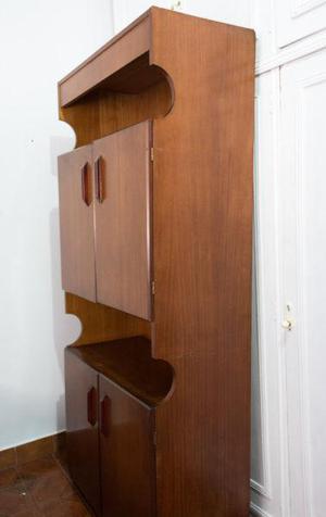Mueble modular 4 puertas y estantes para living comedor leer