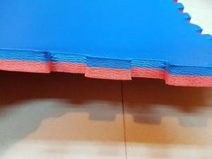 Piso de goma encastrable 23mm 1mt x1mt bicolor
