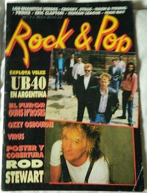 Revista rock & pop, rata blanca, inxs, ub40, rod stewart