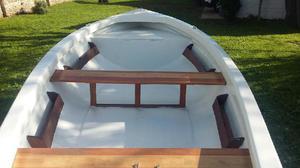 Bote lagunero con trailer, motor y funda