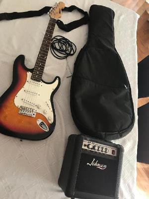 Guitarra electrica mirr's amplificador johnson gf10 cable,