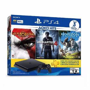 Ps4 slim 500gb con 1 joystick y 3 juegos