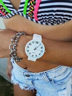 Reloj mujer silicona divinos colores por mayor 10 unidades