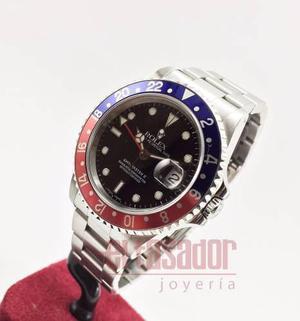 Reloj rolex acero gmt master il ref 16710 *joyeriaeltasador*