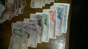 Billetes. lote de 15 billetes antiguos