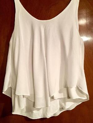 Blusa zara blanca m