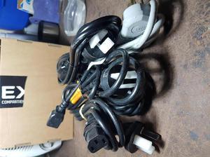 Cables de alimentacion nuevos, para pc, impresoras, etc x 5