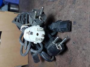 Cables de alimentacion schuko, usados, para pc, impresoras,