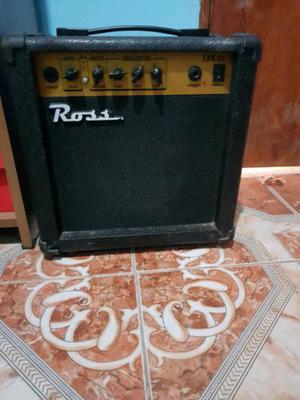 Guitarra eléctrica con amplificador