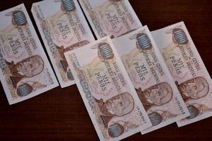Lote de billetes antiguos