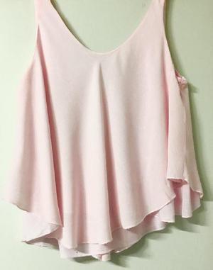 Remera blusa zara rosa