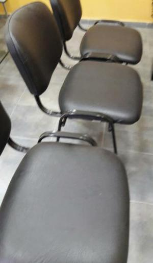 Tres sillas para oficina impecables $500 cada una