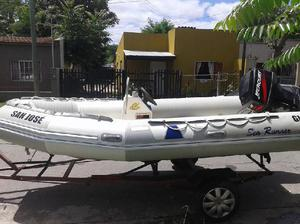 Vendo!!! semirrigido sea runner 4.60mts motor mercury 60hp