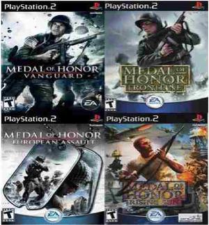 Ps2] saga medal of honor (4 juegos) para playstation 2