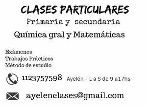 Clases particulares para primaria y secundaria en caballito/
