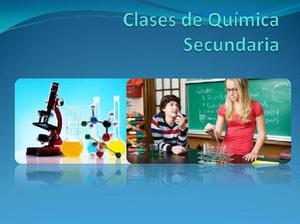 Clases de química secundaria
