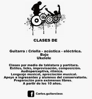 Clases de guitarra, bajo, ukelele, lenguaje musical