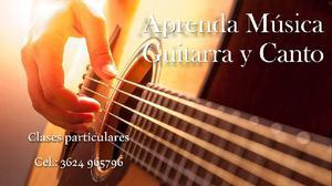 Clases particulares a domicilio de guitarra y canto