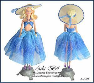 Ropa para muñecas talle barbie, conjunto playa