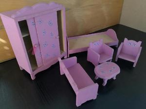 Set muebles casita muñecas barbie