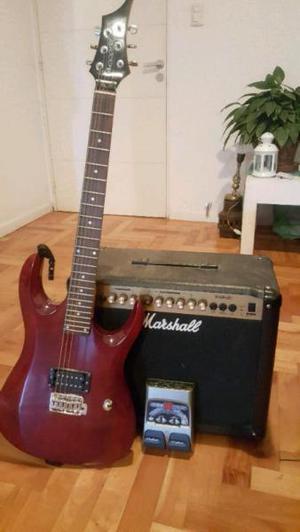 Guitarra electrica amplificador pedalera