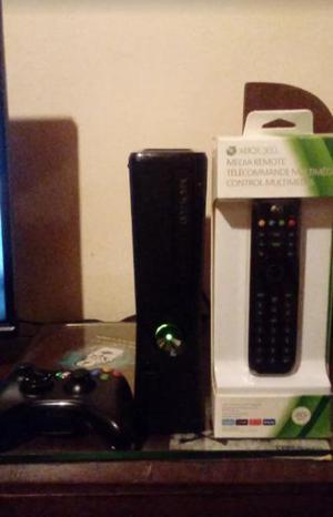 Xbox 360 slim 5 juegos fisicos y 47 juegos digitales