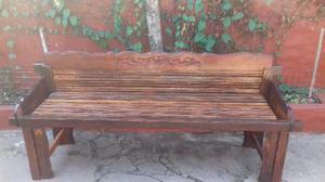 Banco rustico de madera clasf - Banco de madera rustico ...
